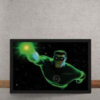 Quadro Decorativo Lanterna Verde Animated Series Dc Comics 25X35
