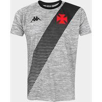Camisa Vasco Da Gama Supporter Mixed Kappa Masculina - Masculino-Mescla Claro