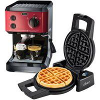 Kit Cafeteira Expresso Cappuccino E Máquina De Waffle Oster - 127V