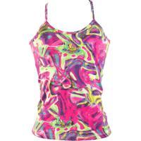 Camiseta Regata Fitness Estampada Nadador Com Alça - Feminino