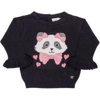 Blusa Para Bebê Tricot Panda - Anjos Baby