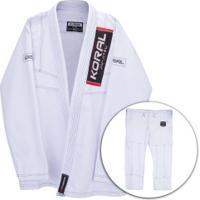 Kimono Jiu-Jitsu Koral Classic Slim Fit Bco - Adulto - Branco