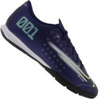 Chuteira Futsal Nike Mercurial Vapor 13 Academy Mds Ic - Adulto - Azul Escuro