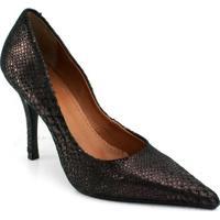 Sapato Texturizado Zariff Concept - Feminino-Preto