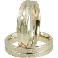 Aliança Em Aço Magnet S Gold Ipg C/ Grt 5Mm Convex Jóias - Unissex-Ouro