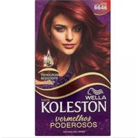 Tintura Koleston Kit Creme Vermelhos Especiais 6646 Cereja