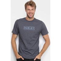 Camiseta Hurley Boxed Benzo Masculina - Masculino-Preto+Chumbo