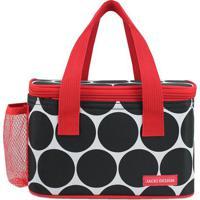 Bolsa Térmica Poá Com Tag- Preta & Vermelha- 13X21,5Jacki Design