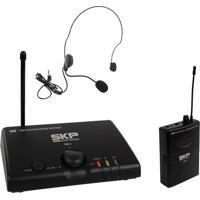 Microfone Headset Skp Mini V Sem Fio Preto