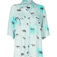 Camisa Estampa De Animais Canellado
