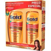 Kit Shampoo + Condicionador Niely Gold Queratina Reparação 1 Unidade