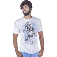Camiseta Blujack Estampa Mergulhador Branco