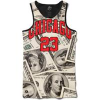 Camiseta Bsc Regata Chicago Dollar Full Print - Masculino-Preto