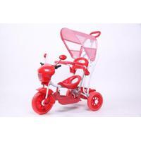 Triciclo Bel Brink Infantil 2 Em 1 C/Toldo - Unissex-Vermelho