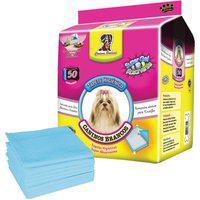 Tapete Higiênico Para Cães Chalesco Com 50 Unidades 60X60Cm Branco