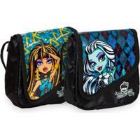 Kit Monster High 15 Infantil Sestini - 2 Bolsinhas - Feminino-Preto