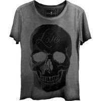 Camiseta Estonada Gola Canoa Corte A Fio Love