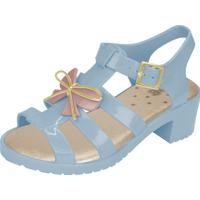 Sandália Flib Infantil Aranha Salto Plástico Com Laço Azul