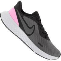 Tênis Nike Revolution 5 - Feminino - Preto/Cinza Esc