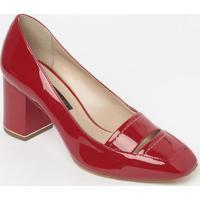 Sapato Tradicional Em Couro Envernizado- Vermelho- Sjorge Bischoff