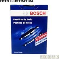 Pastilha Do Freio - Bosch - Astra Mpfi/Golf 1999 Até 2006/A3 - (Teves) - Dianteiro - Jogo - Pe-145-0986Bb0714