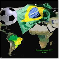 Quadro Brasil Verde 30 X 30 Cm Uniart