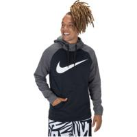 Blusão Com Capuz Nike Therma - Masculino - Preto/Cinza