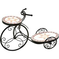 Floreira Bicicleta- Preta & Off White- 39X54X19Cmbtc Decor