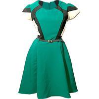 5a3f5d440 Vestido Rodado Com Recortes Moda Evangélica