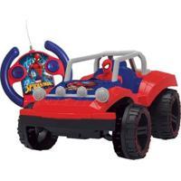 Carrinho De Controle Remoto Spider-Man Buggy Hero - 7 Funções - Unissex-Vermelho+Azul