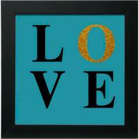 Quadro Decorativo Love L Preto
