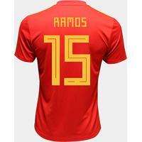 Camisa Seleção Espanha Home 2018 N° 15 Ramos - Torcedor Adidas Masculina - Masculino
