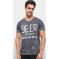Camiseta Bossa Brasil Beer Masculina - Masculino-Chumbo