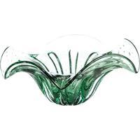Centro De Mesa Yasmim- Incolor & Verde Claro- 18Xã˜45Cristais Tavares