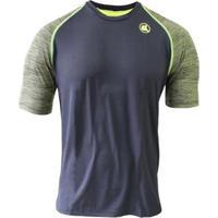 Camisa Esporte Legal Poliamida Uv45+ Raglan Mascu - Masculino-Musgo+Preto