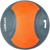 Medicine Ball 1Kg Vollo Preta/Laranja