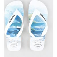 fed7558aaf59 Chinelo Havaianas Masculino Estampado Surf Branco