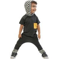 Macacão Com Capuz Infantil Comfy Zig Zag - Masculino