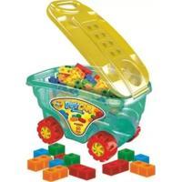 Carrinho Organizador Bloco De Montar Playcar Ggbplast Brinquedos