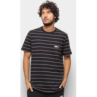 Camiseta Puma Fusion Striped Masculina - Masculino-Preto