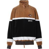 Burberry Blusa Esportiva Com Listras E Logo Gráfico - Marrom