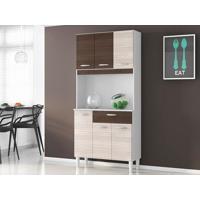 Cozinha 6 Portas Cássia Amêndoa/Capuccino - Lc Móveis