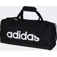 Mala Adidas Linear Duffle S - Preto/Branco