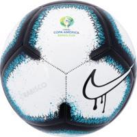 Bola De Futebol De Campo Nike Rabisco Copa América 2019 Pitch - Branco/Azul