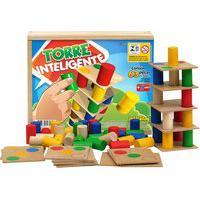 Torre Inteligente Jottplay 45 Peças Em Madeira Colorido