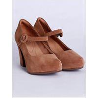 Sapato De Salto Meia Pata Bebecê Feminino Caramelo