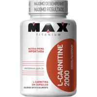 L-Carnitine 2000 Suplemento Alimentar Que Auxilia Na Queima De Gordura, Definição Muscular E Resistência - 60 Cápsulas - Max Titanium