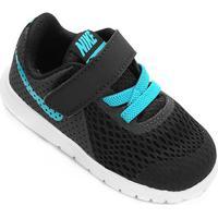 Tênis Infantil Nike Flex Experience 5 - Masculino-Preto+Azul Turquesa