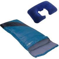 Saco De Dormir Tipo Envelope Nautika + Travesseiro De Pescoço Inflável Nautika - Unissex