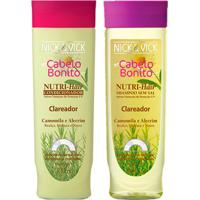 Kit Shampoo + Condicionador Nick & Vick Nutri-Hair Clareador Kit - Unissex